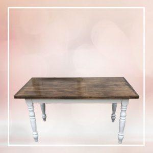 Vintage keményfa étkezőasztal